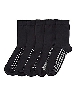 5 Pack Ankle Socks