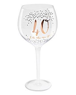 Hotchpotch Birthday Age Gin Goblet