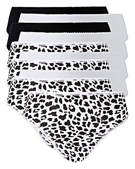 10 Pack Animal High Leg Midi Briefs