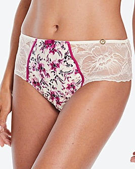 Joanna Hope Botonical Pink Floral Midi Brazilian Brief