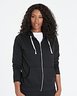 Black Zip-Through Hoodie