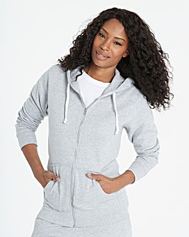 Grey Marl Zip-Through Hoodie
