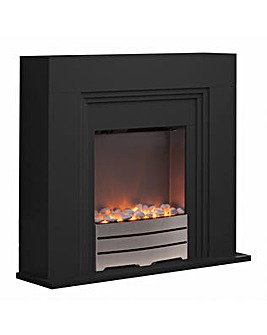 Warmlite Canterbury Fireplace Suite Blac