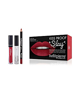 Bellapierre Kiss Proof Slay Lip Kit Hothead