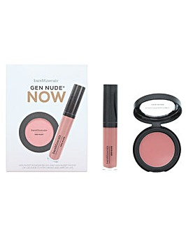 Bare Minerals Gen Nude NOW Blush And Lip Lacquer Set