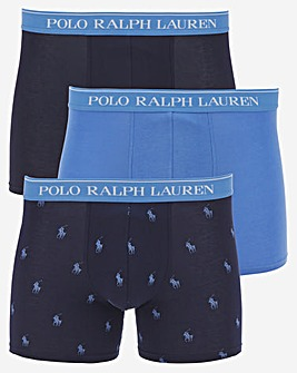 Polo Ralph Lauren Classic 3 Pack Boxer Briefs - Navy/Blue
