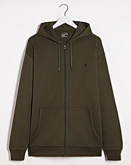 Polo Ralph Lauren Tech Zip Through Hoodie - Olive
