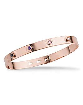 Mya Bay Tonal Purple Stone Bracelet