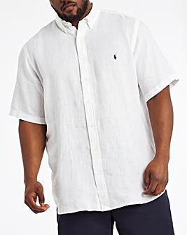 Polo Ralph Lauren Short Sleeve Linen Shirt - White