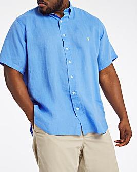 Polo Ralph Lauren Blue Short Sleeve Linen Shirt
