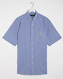 Polo Ralph Lauren Short Sleeve Stretch Seersucker Shirt - Blue