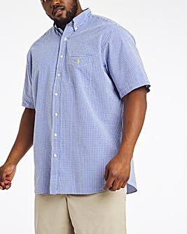 Polo Ralph Lauren Short Sleeve Stretch Seersucker Shirt - Blue