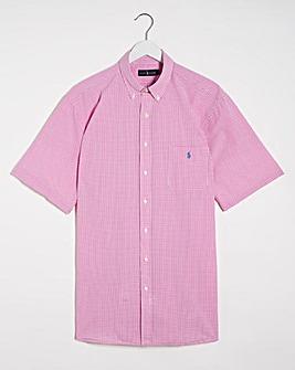 Polo Ralph Lauren Short Sleeve Stretch Seersucker Shirt - Pink