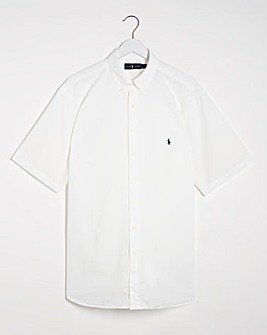 Polo Ralph Lauren Short Sleeve Stretch Seersucker Shirt - White