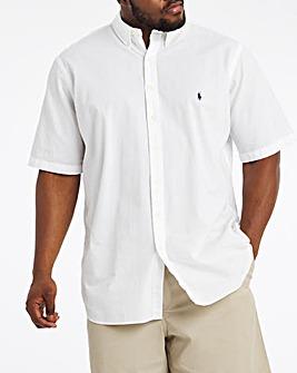 Polo Ralph Lauren Short Sleeve Stretch Seersucker Shirt - White
