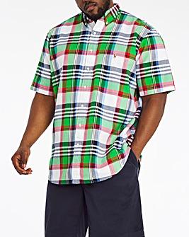 Polo Ralph Lauren Short Sleeve Check Shirt - Green