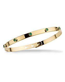 Mya Bay Green 5 Sparkle Stone Bracelet