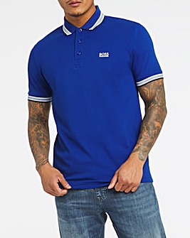 BOSS Regular Fit Bright Blue Short Sleeve Paddy Polo