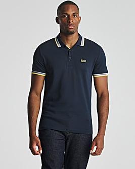 BOSS Dark Blue Regular Fit Short Sleeve Paddy Polo