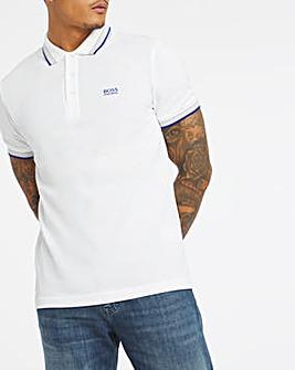BOSS White Regular Fit Short Sleeve Paddy Polo
