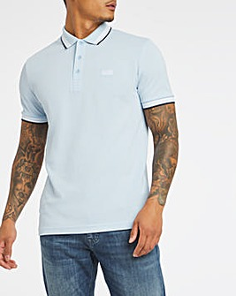 BOSS Open Blue Regular Fit Short Sleeve Paddy Polo