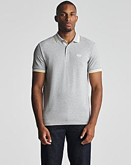 BOSS Grey Regular Fit Short Sleeve Paddy Polo