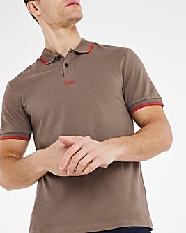 BOSS Casual Short Sleeve Small Logo Polo - Beige