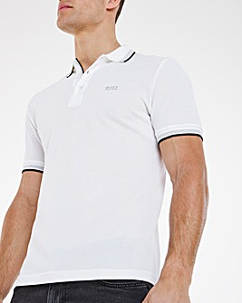BOSS Short Sleeve Classic Paddy Polo - White