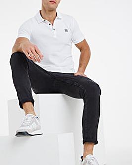 BOSS Casual Short Sleeve Passenger Polo - White
