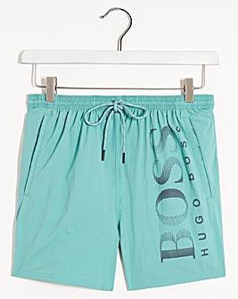 BOSS Light Green Logo Swimshort