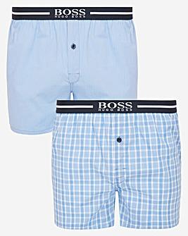 BOSS 2 Pack Woven Boxer