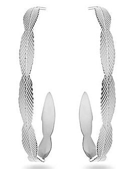 Mya Bay Leaf Texture Half Hoop Earrings