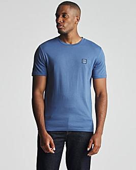 BOSS Open Blue Casual Short Sleeve Crew Neck Logo T-Shirt