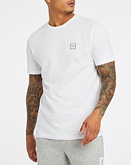 BOSS White Casual Short Sleeve Crew Neck Logo T-Shirt
