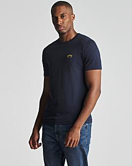 BOSS Blue Short Sleeve Curved Logo T-Shirt
