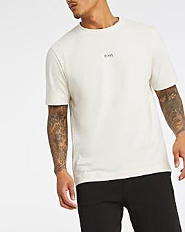 BOSS Light Beige Casual Short Sleeve Relaxed Fit Logo T-Shirt