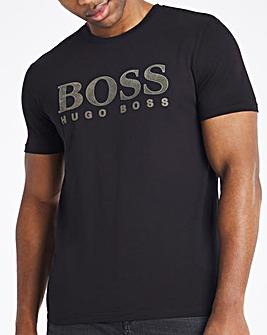 BOSS Casual Short Sleeve Flocked Logo T-Shirt