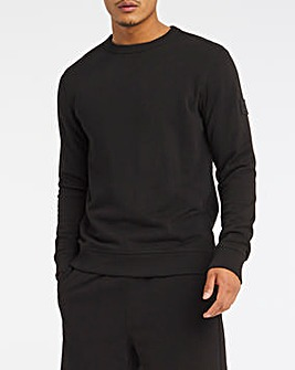 BOSS Black Casual Relaxed Fit Logo Crew Sweat