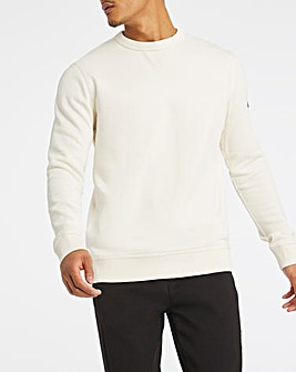 BOSS Casual Light Beige Relaxed Fit Logo Crew Sweat