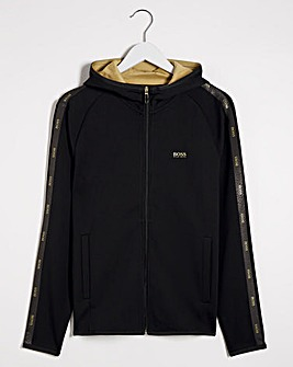 BOSS Gold Tape Zip Through Hoodie