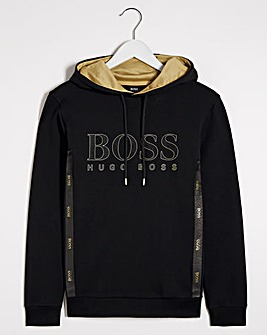 BOSS Gold Embroidered Logo Hoodie