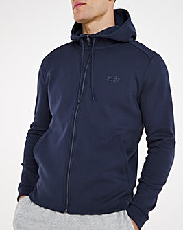BOSS Classic Zip Through Hoodie - Navy