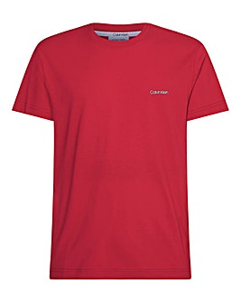 Calvin Klein Short Sleeve Chest Logo T-Shirt - Red