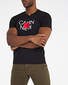 Calvin Klein Short Sleeve Text Reversed Logo T-Shirt