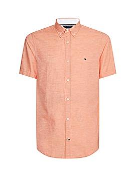 Tommy Hilfiger Peach Short Sleeve Twill Shirt