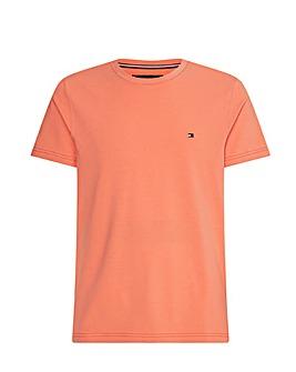 Tommy Hilfiger Peach Short Sleeve Essential Flag T-Shirt