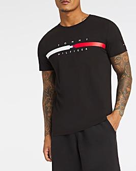 Tommy Hilfiger Black Short Sleeve Global Stripe T-Shirt