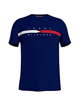 Tommy Hilfiger Short Sleeve Global Stripe T-Shirt