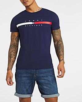 Tommy Hilfiger Navy Short Sleeve Global Stripe T-Shirt
