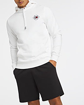 Tommy Hilfiger White Circle Chest Logo Hoodie